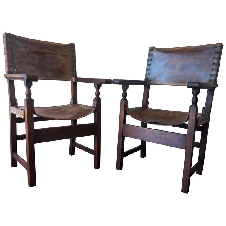 18th Century Pair Of Colonial European Spanish Altar Armchairs