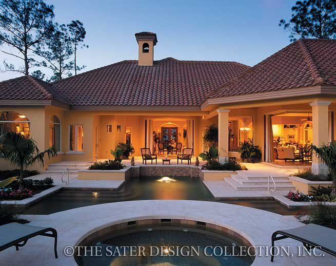Del Toro Home Plan L Sater Design Collection L Mediterranean House Plans Mediterranean Homes House Plans One Story Luxury House Plans