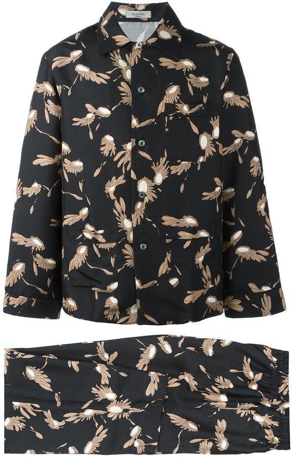 d64b33252a11 Valentino wing print pyjamas
