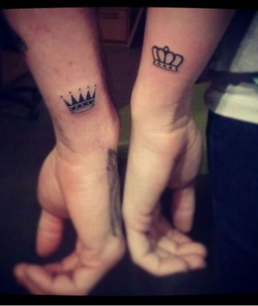 5ddd48faf48a2 Couple Ring Finger Tattoos, Cool Couple Tattoos, Simple Couples Tattoos,  Small Tattoos,