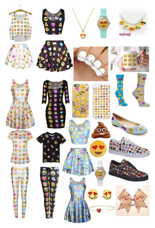 """Emoji craze"" by maddie-the-cowgirl ❤ liked on Polyvore featuring HOT SOX, Kate Spade, WithChic, Casetify, Betsey Johnson, Throwboy, Vlado, Pilot and Alison Lou"