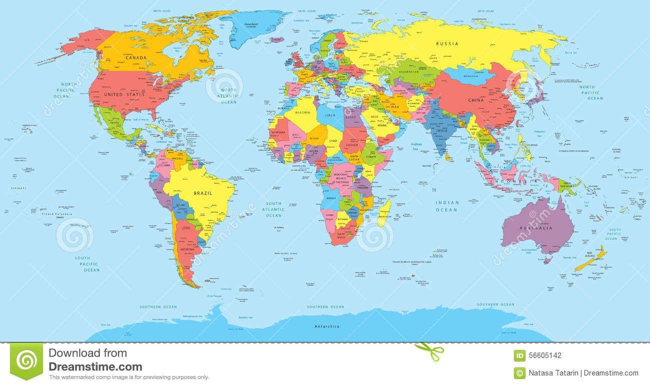 Para Imprimir Mapa Del Mundo Real.Mapa Del Mundo Con Nombres Buscar Con Google En 2019