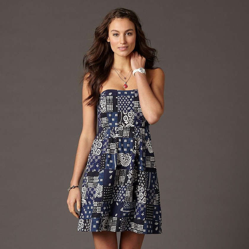 handkerchief inspired sundress! perfect for Summer BBQs <3 Fossil
