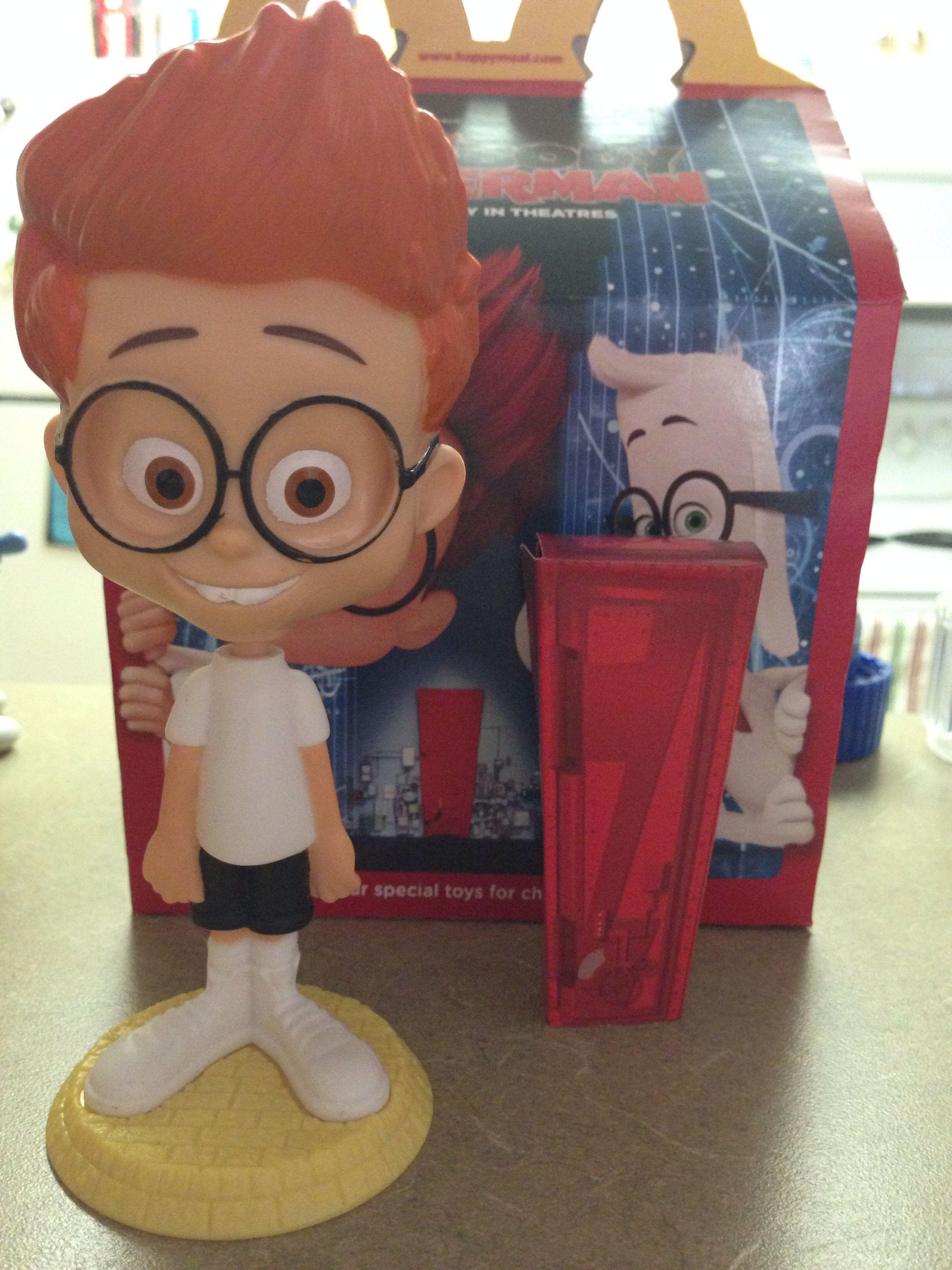 Mr.PeaBody & Sherman Happy Meal Toy #1 Sherman Bobblehead