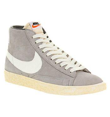 Nike Blazer Hi Ante Blanco Lobo Gris De La Vendimia