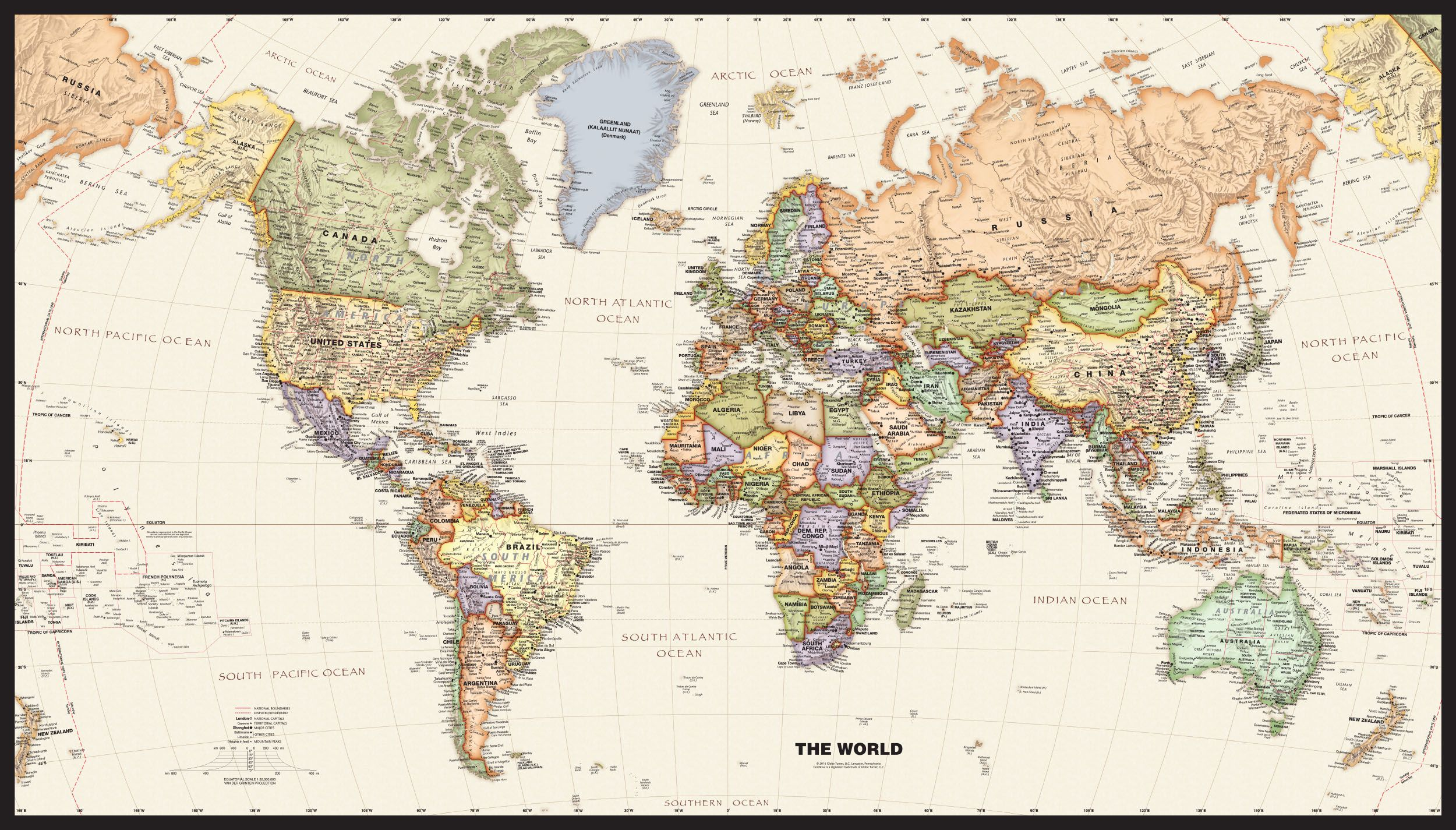 Political world wall map with antique oceans wall art pinterest political world wall map with antique oceans gumiabroncs Choice Image