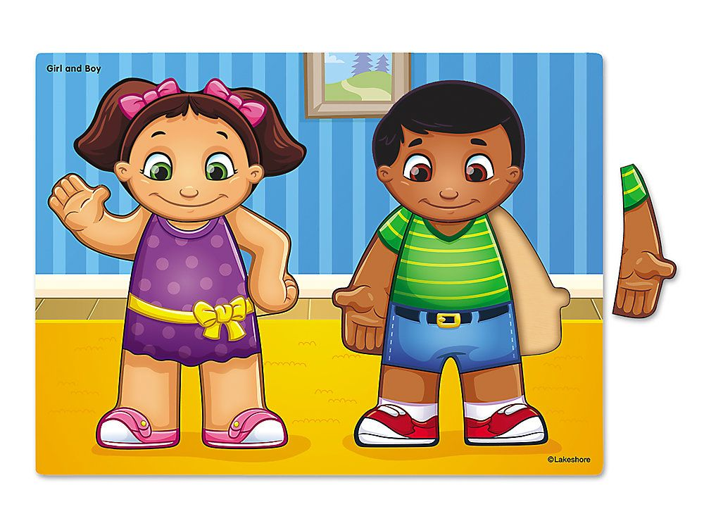 Lakeshore Boy and Girl Puzzle Boy or girl, Boys