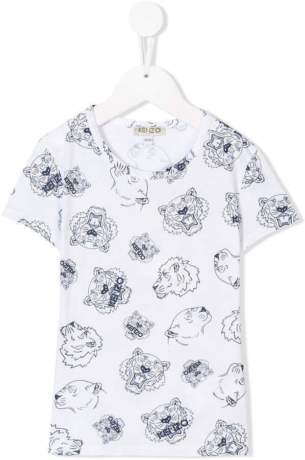 cd7ef5e4 Kenzo Tiger logo print T-shirt   Products