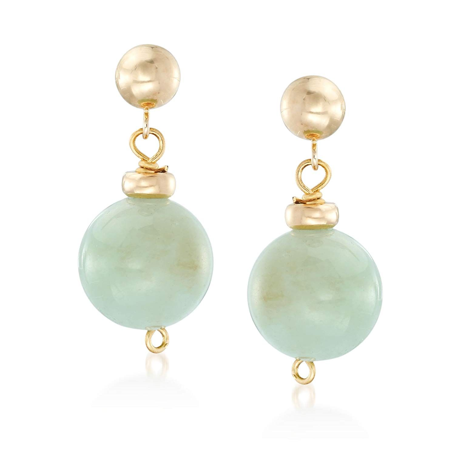 2be1e3b24 Ross-Simons 14.00 ct. t.w. Green Beryl Bead Drop Earrings in 14kt Yellow  Gold *** Thank you for seeing our photo. (This is an affiliate link) # ...