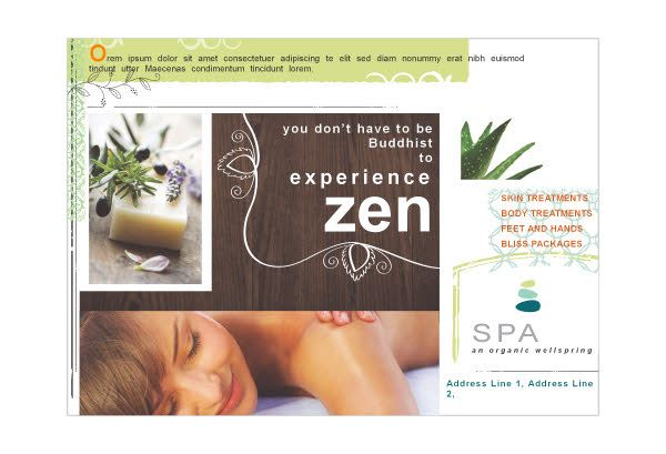 Template For Spa Flyer  Google Search  Spa    Spa And