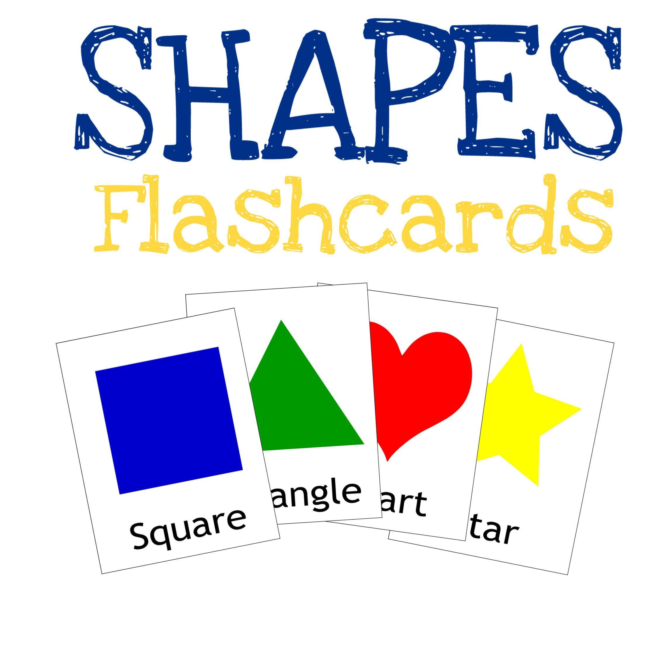 Shapes Flashcards Children Card Games Preschool And