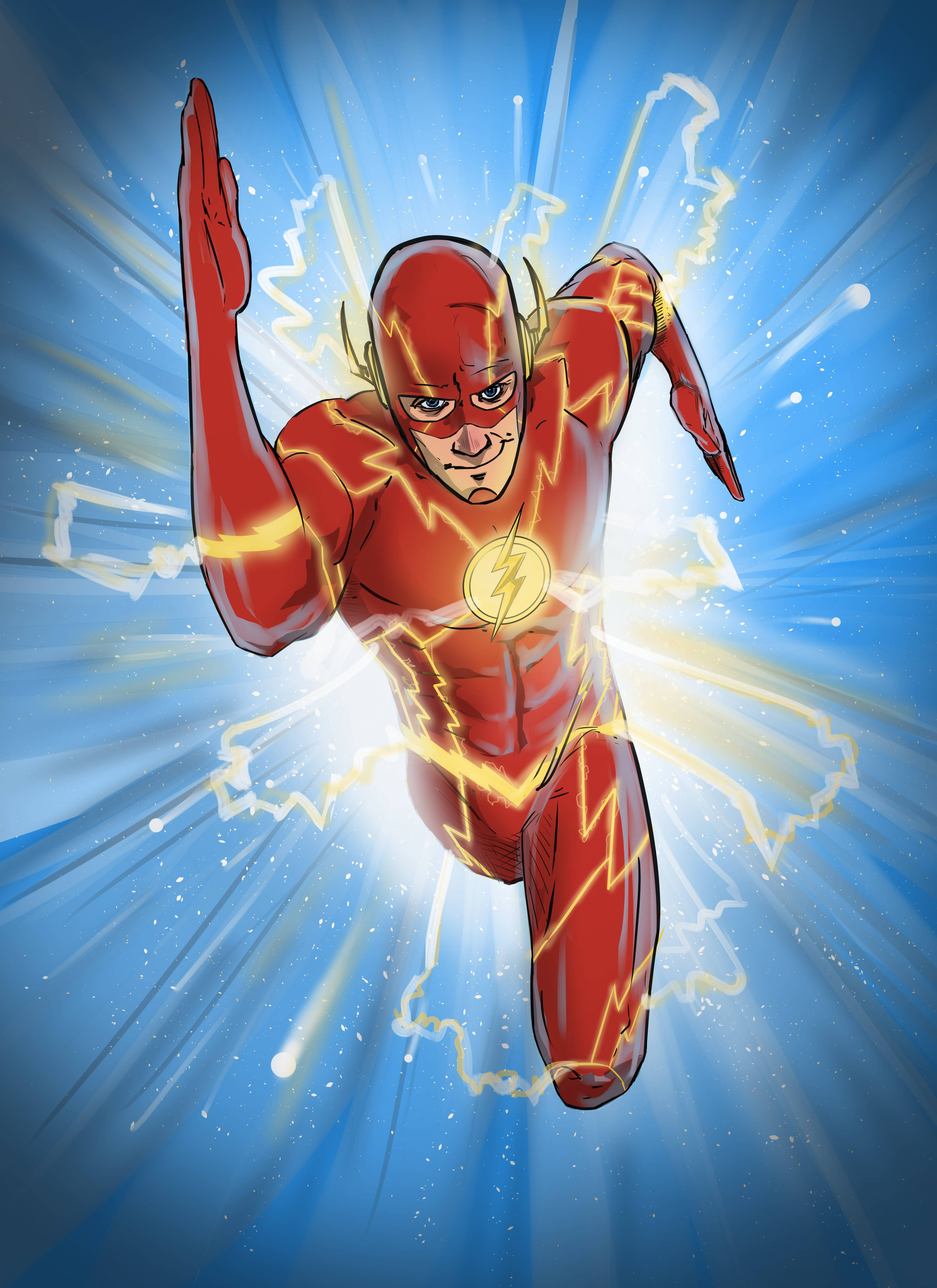 The Flash Running Through Speed Force