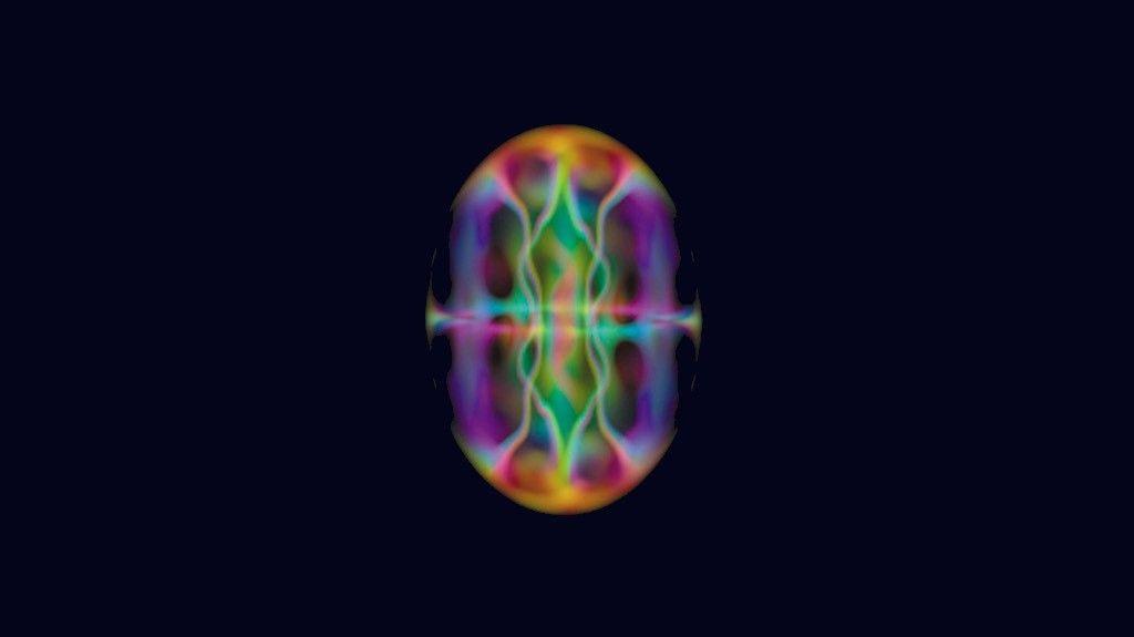 Estrutura em forma de vórtex emerge dentro de um condensado de Bose-Einstein em rotação.