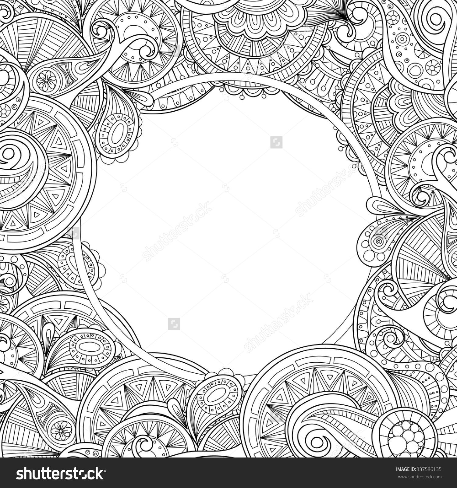 Stock vector abstract hand drawn zentangle style frame doodle art stock vector abstract hand drawn zentangle style frame pronofoot35fo Choice Image