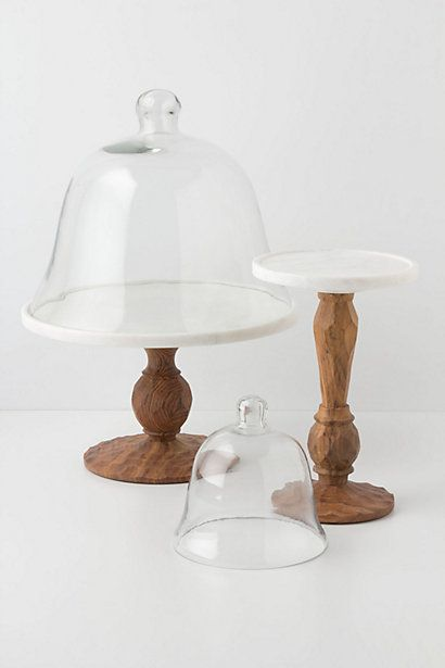 Glass Dome Display Stand With Carved Wood Base Home Design