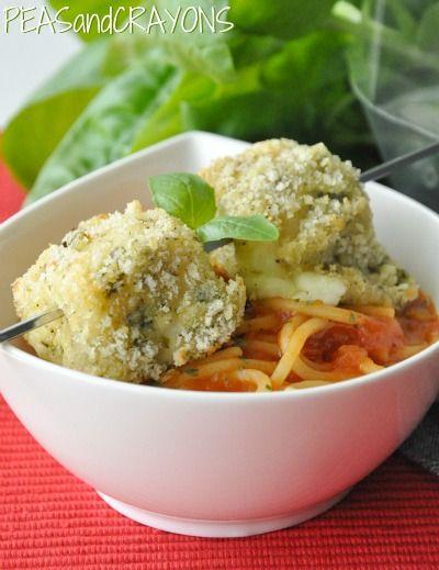Spaghetti and Mozz Balls <3