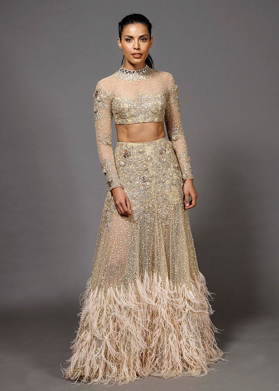 da2c55bad8 Look sensational in this gorgeous lehenga by designer Manish Malhotra