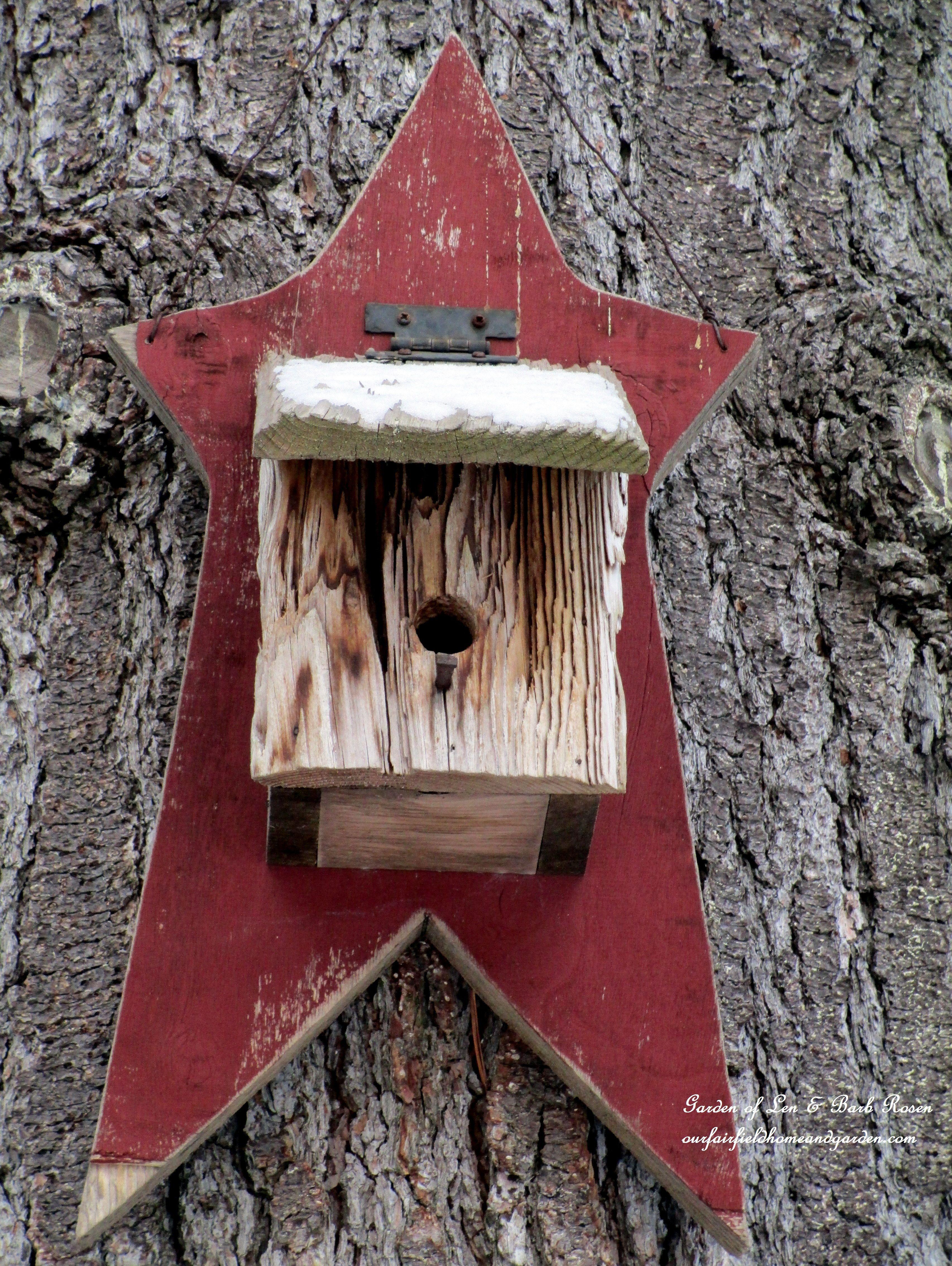 Rustikale Len rustic birdhouse garden of len barb bird houses