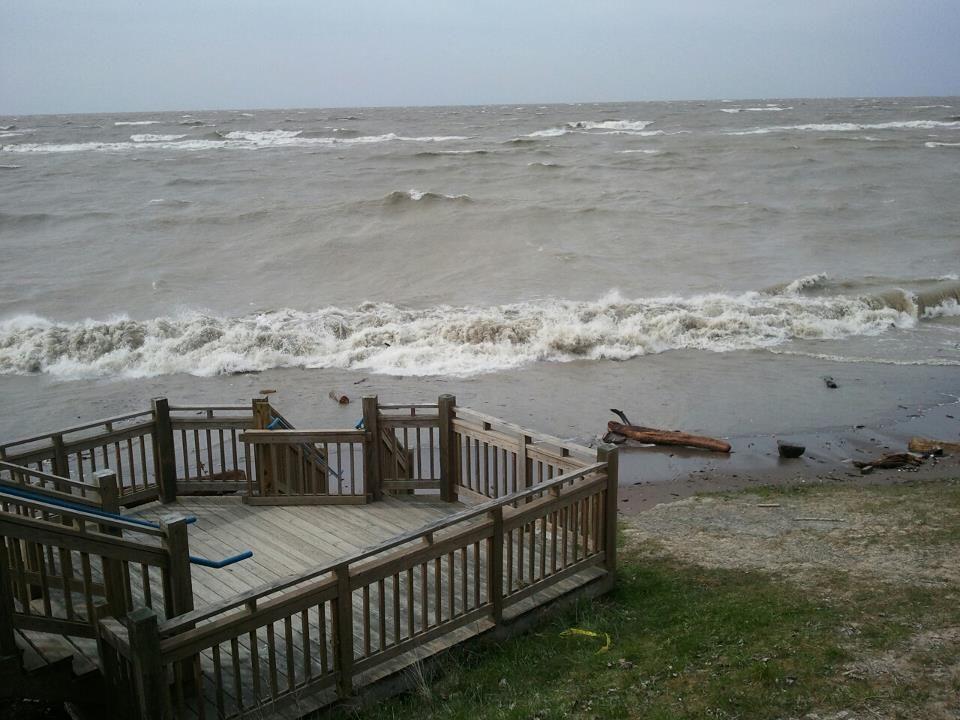 Lake Erie Today Wind and water Lake, Lake erie, Lake