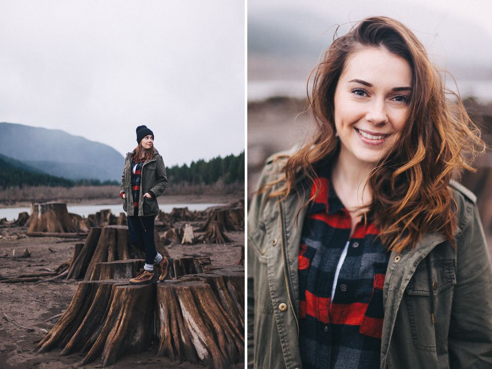 jessica whitaker photography senior portrait session at rattlesnake lake ridge. unique pacific northwest portraits. see my tips for posing seniors + how shooting in the rain here: http://www.jessicawhitaker.co/blog/2015/12/13/rattlesnake-lake-x-december-10-2015