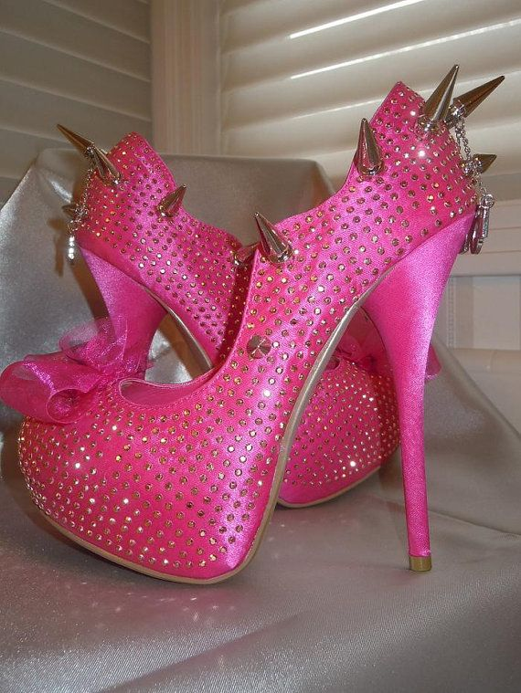 High Heel Platform Spiked Women Shoes Hot Pink size 6 by Spikesbyg ...