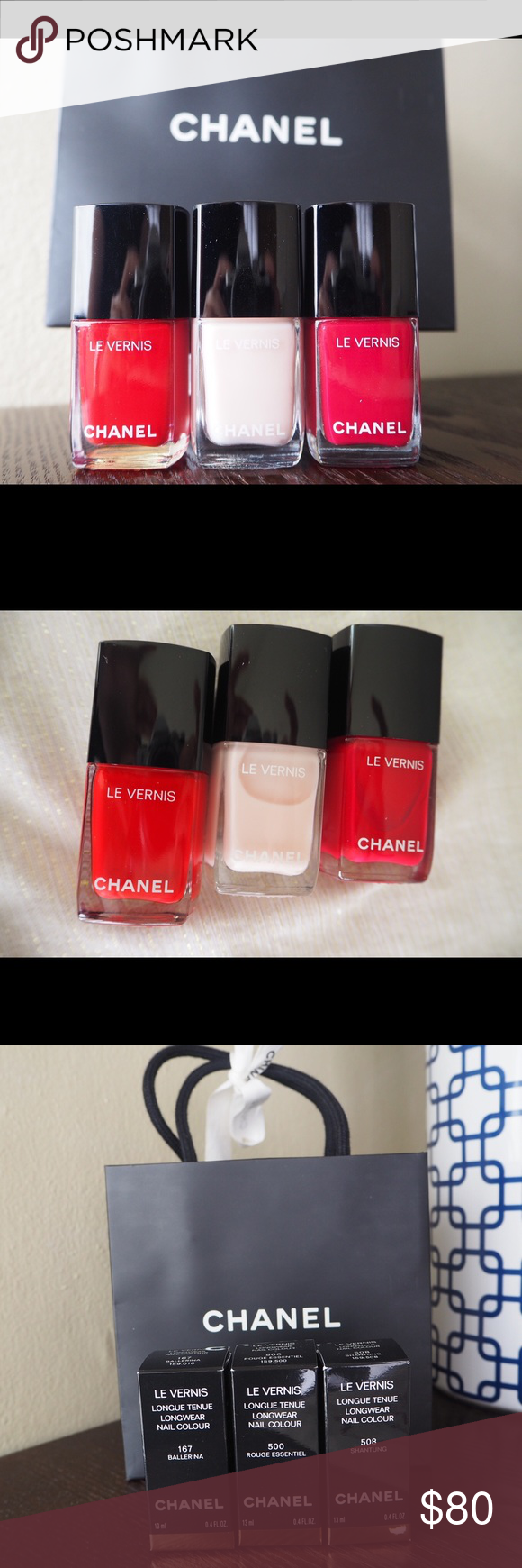 CHANEL nail polish trio. New with box and giftbag Boutique ...
