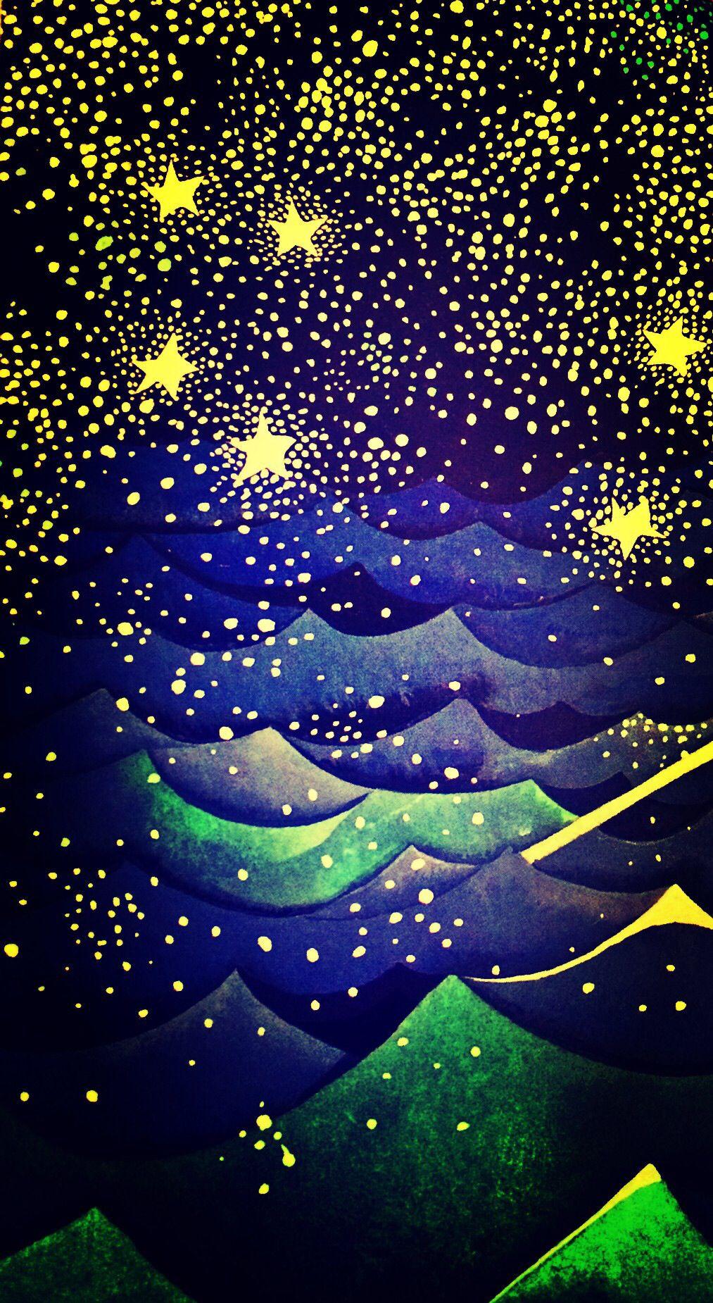 рисунки звездное небо один