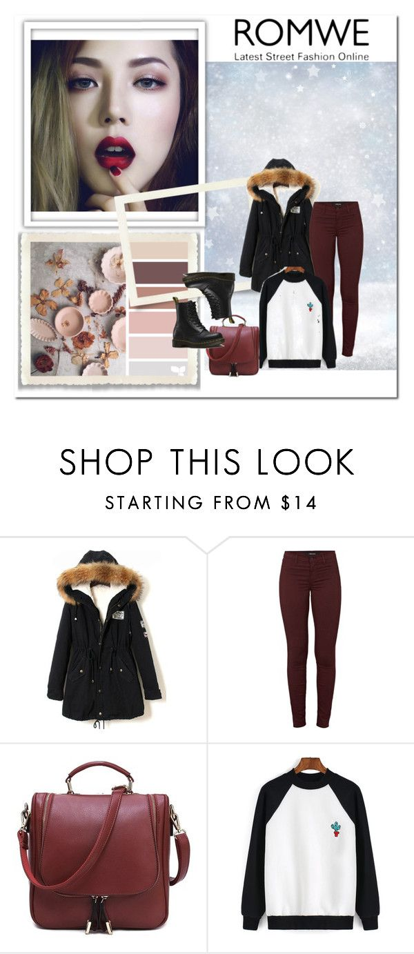"""Colour-block-Cactus-Print-Sweatshirt"" by mina-hasic ❤ liked on Polyvore featuring Belleza, J Brand y Dr. Martens"