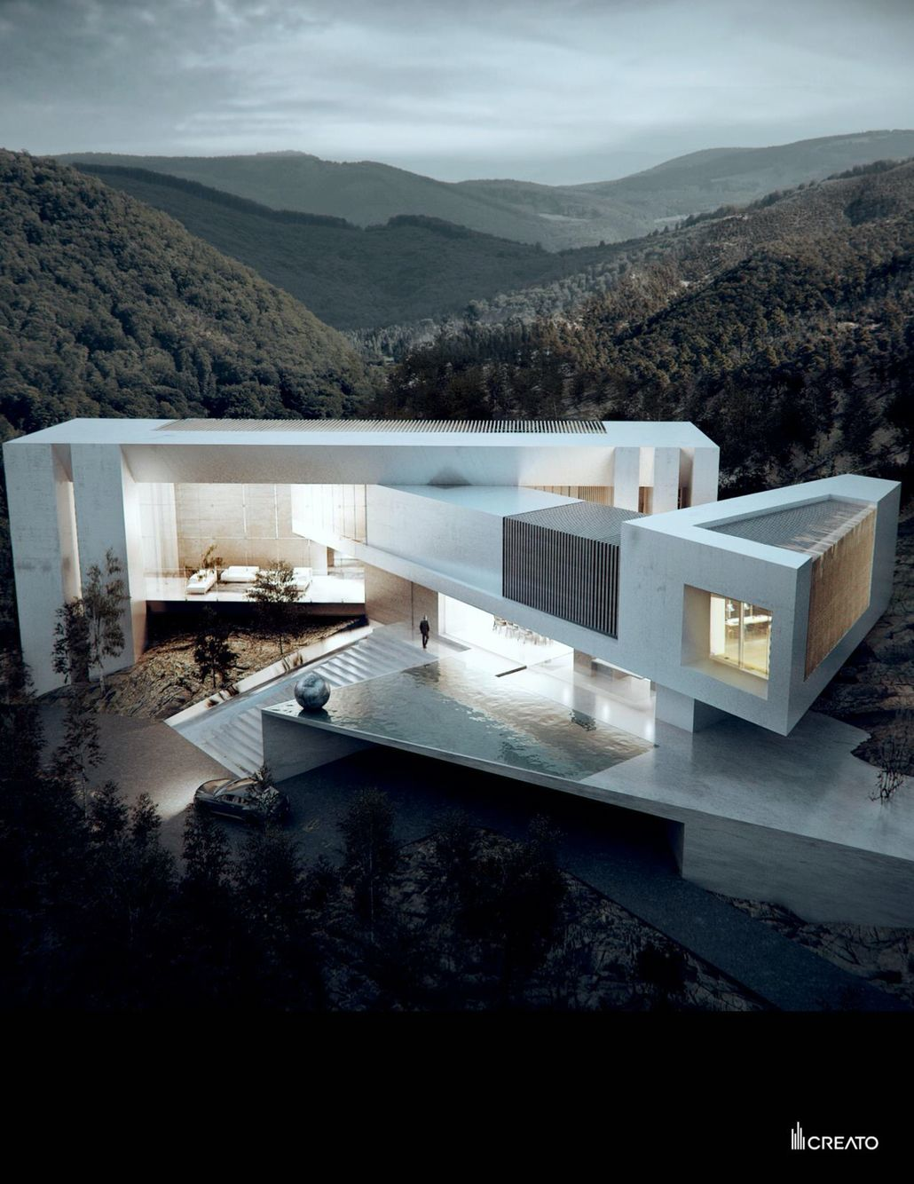 Creato Architects | Casa Aqua Would love to try this layout with ...