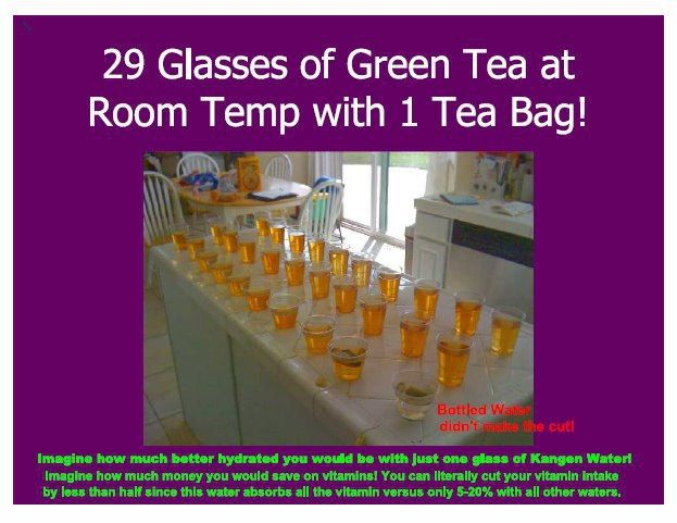 Does Your Room Temperature Water Do This To One Tea Bag Mine Does This Is Called Hydration Message Me To S Kangen Water Kangen Alkaline Water Ionizer