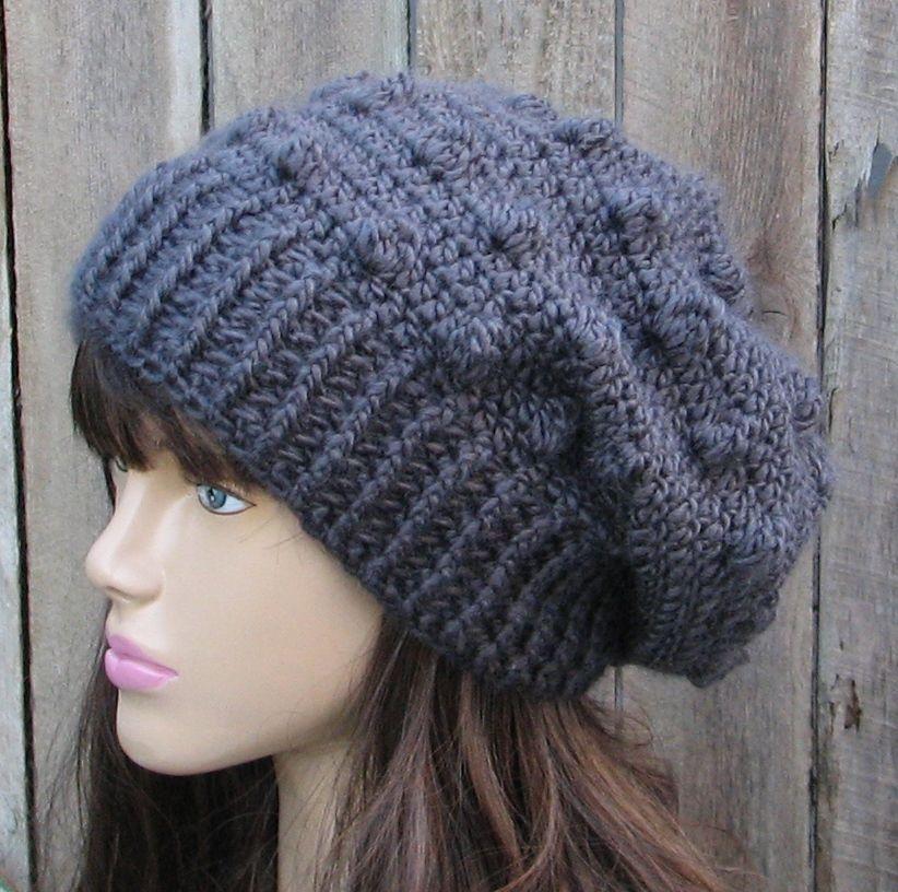 a74d1632e93 CROCHET PATTERN!!! Crochet Hat - Slouchy Hat