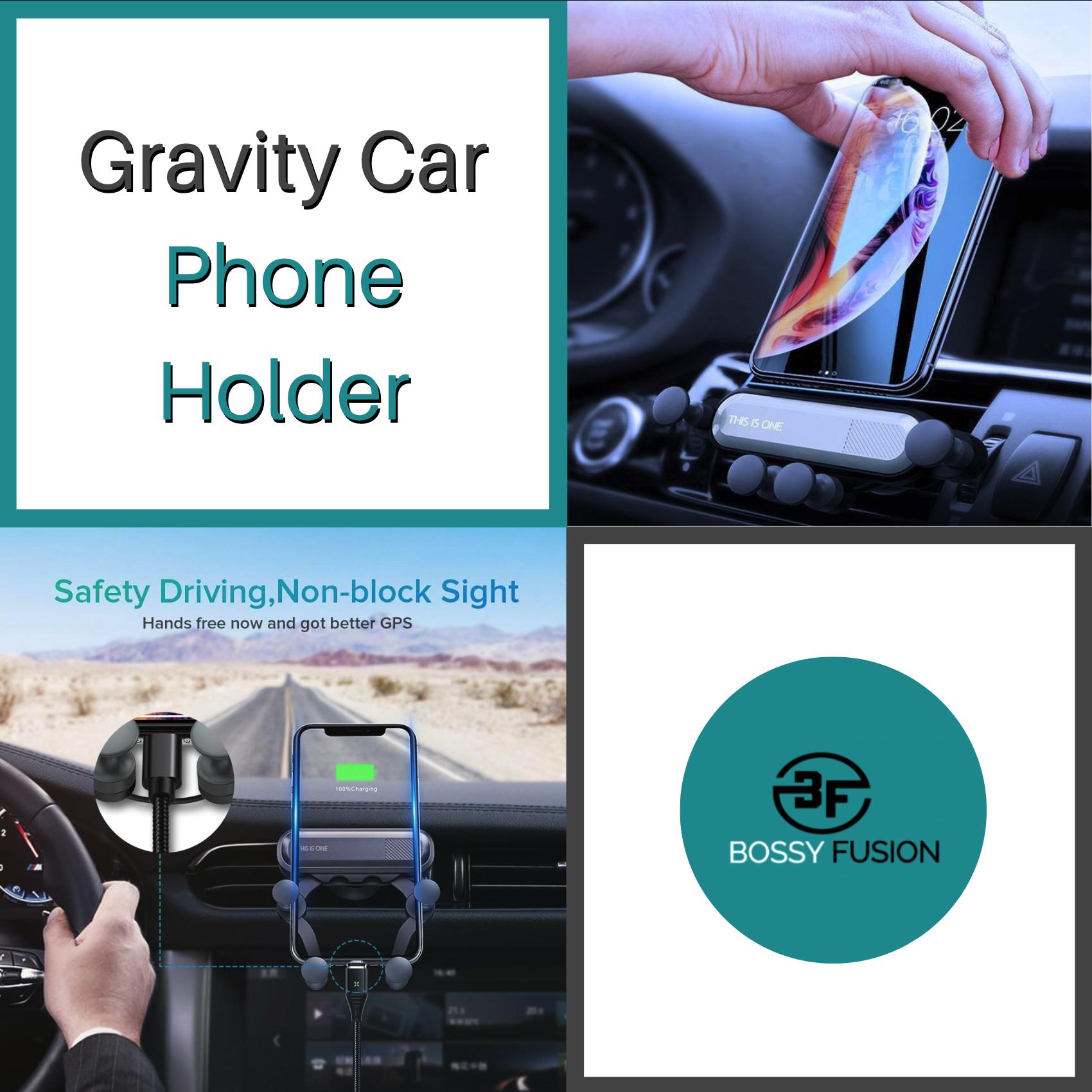 Gravity Car Phone Holder in 2020 Car phone holder, Phone