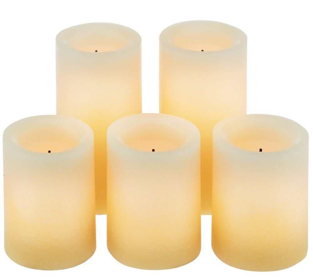 Candle impressions ombre design pillar real wax flameless candles w