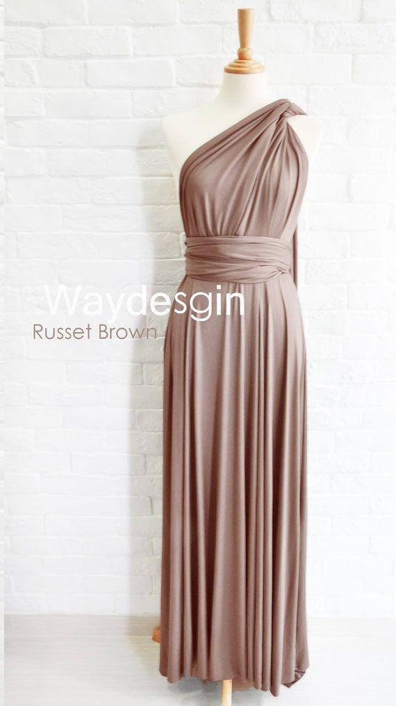 Aliexpress.com : Buy Russet Brown Bridesmaid Dress Wrap ...