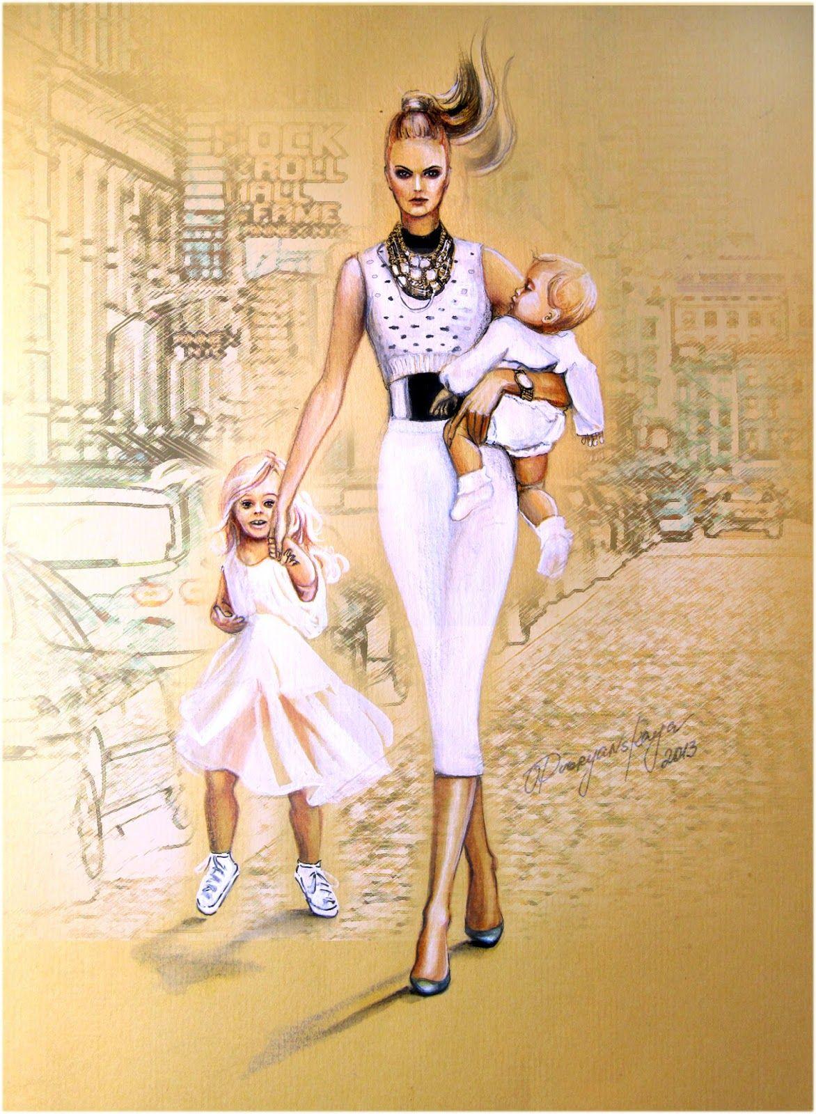 этого она картинки фэшн иллюстрации мама и дочь роспотребнадзора верит страшилки