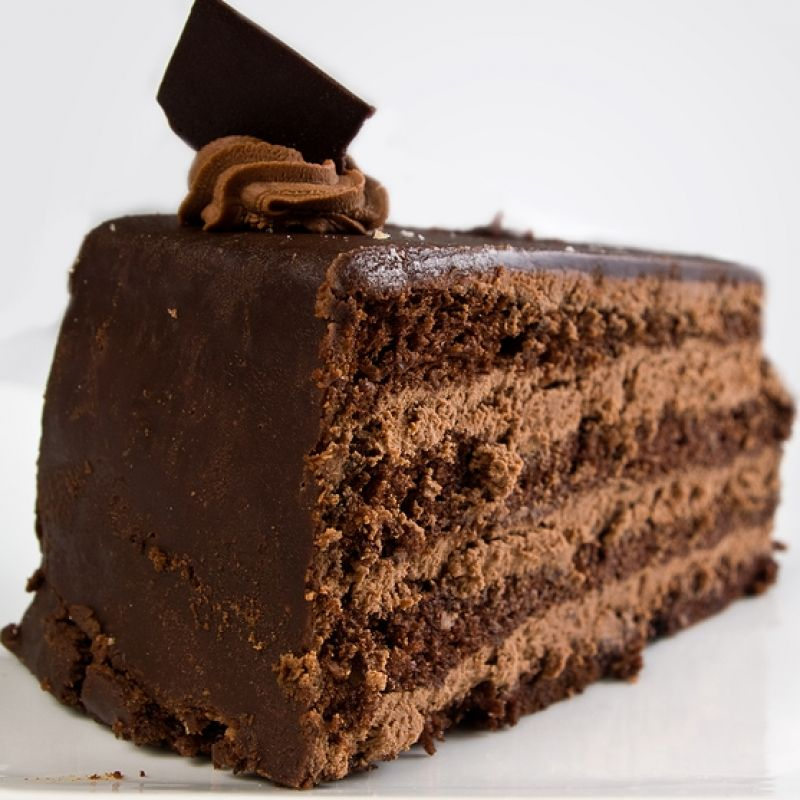 This recipe is for a chocolate 3 layer cake made of chocolate cake