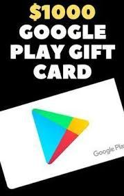 Photo of $1000 Google Play Gift Card