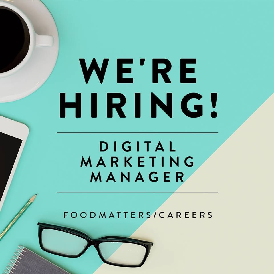 Hiring Digital Marketing Manager Recruitment Poster Design