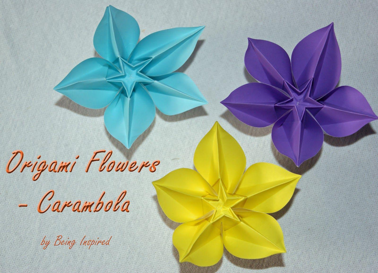 Origami Carambola Flowers Craft Ideas Pinterest Origami