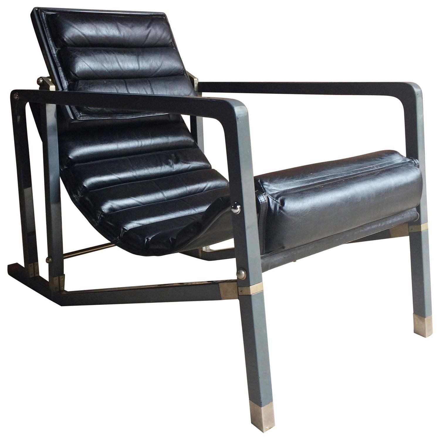 iconic transat chair by eileen gray manufactured by aram late 20th
