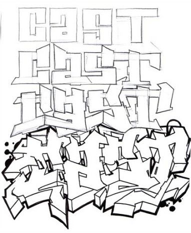 there are 4 steps to make graffiti how to create a sketch graffiti alphabet as shown black white graffiti alphabet ith graffiti letters cast
