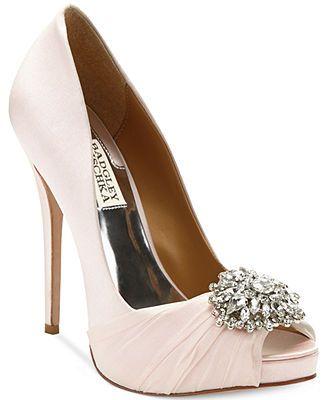 Womens Shoes Badgley Mischka Pettal Light Pink Satin