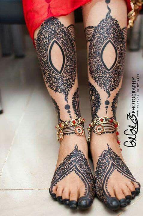 Jirtig Leg Henna Designs Wedding Henna Black Henna