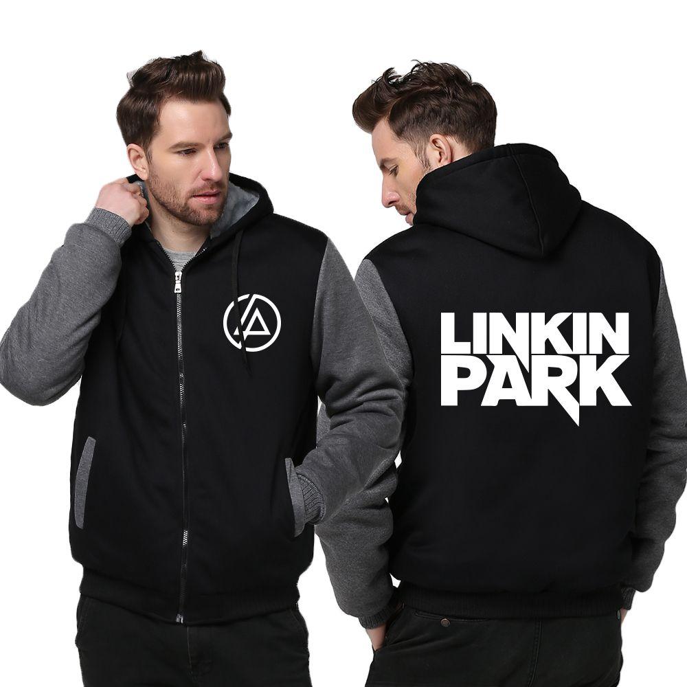 Linkin Park Hoodie Sweatshirt Zipper Fleece Warm Coat Jacket Luminous Edition