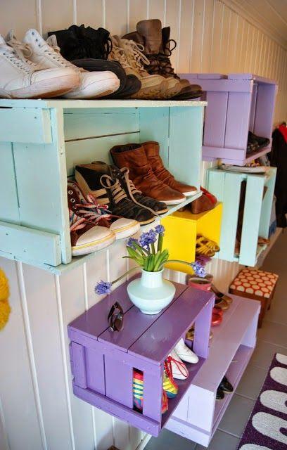 Organizador de calzado ideas fáciles ..   Soluciones para casa ...