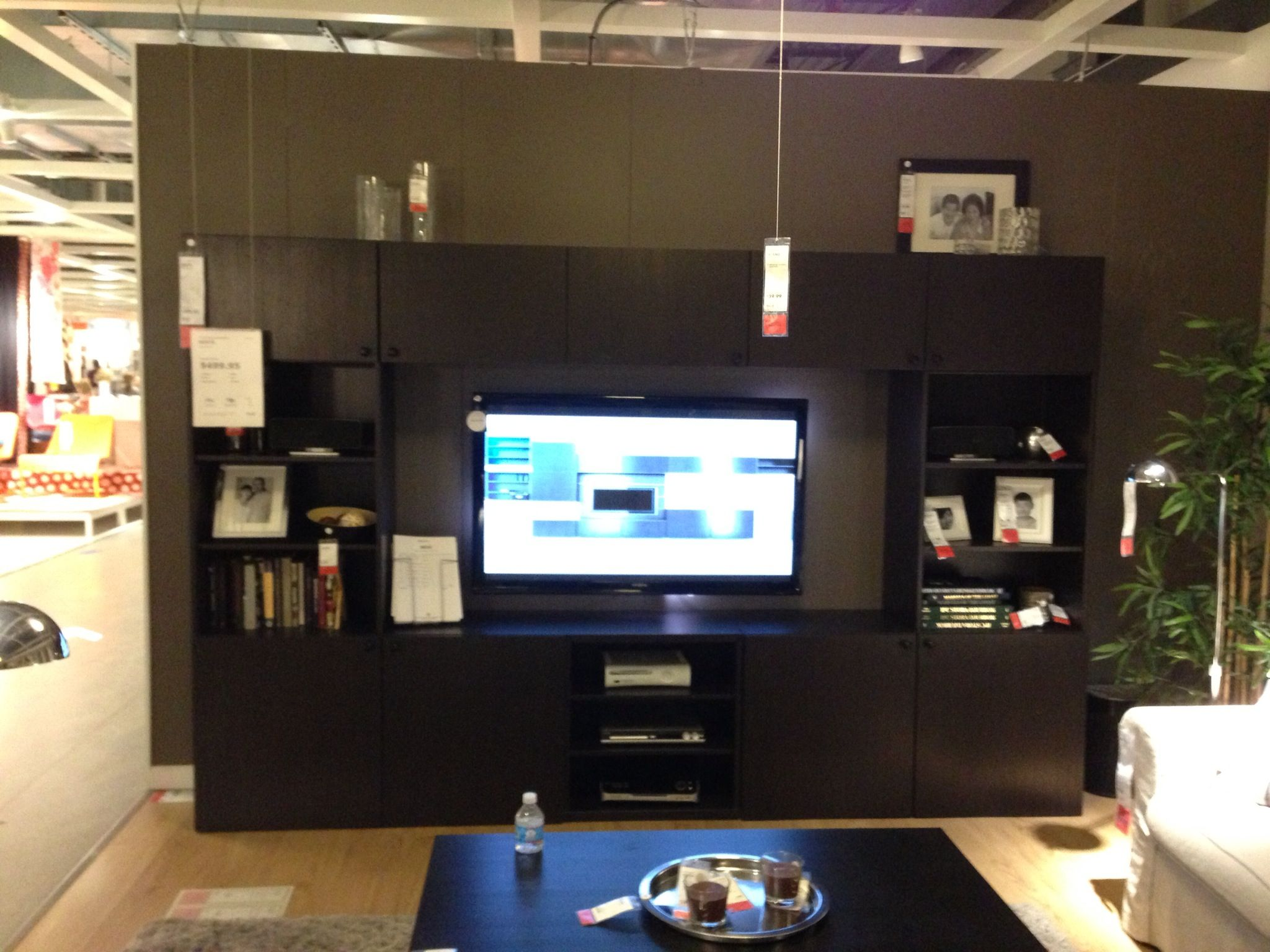 Dream entertainment center at Ikea for $500! | Family Room ...