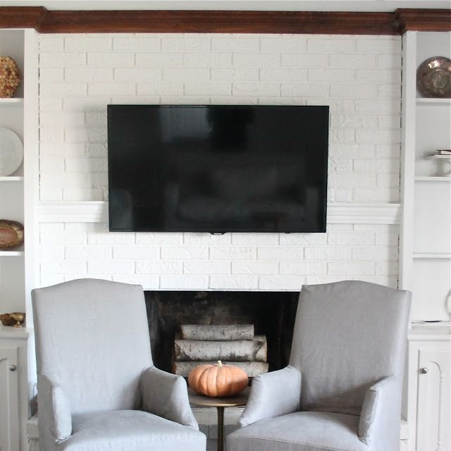Hide Tv Wires Cables, Mount Tv Brick Fireplace Hide Wires