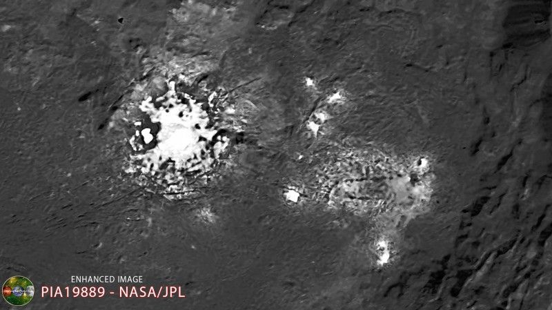 Dawn Lights On Ceres