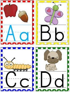 large polka dot alphabet cards for your classroom free With large alphabet letters for classroom wall