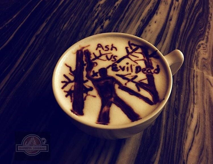 Now this is coffee to wake up to! By barista_maniac https://instagram.com/p/BJseMHbhD_7 #EvilDead